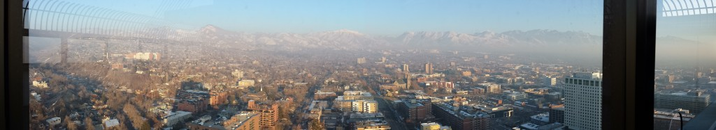 Atop the tallest building in SLC