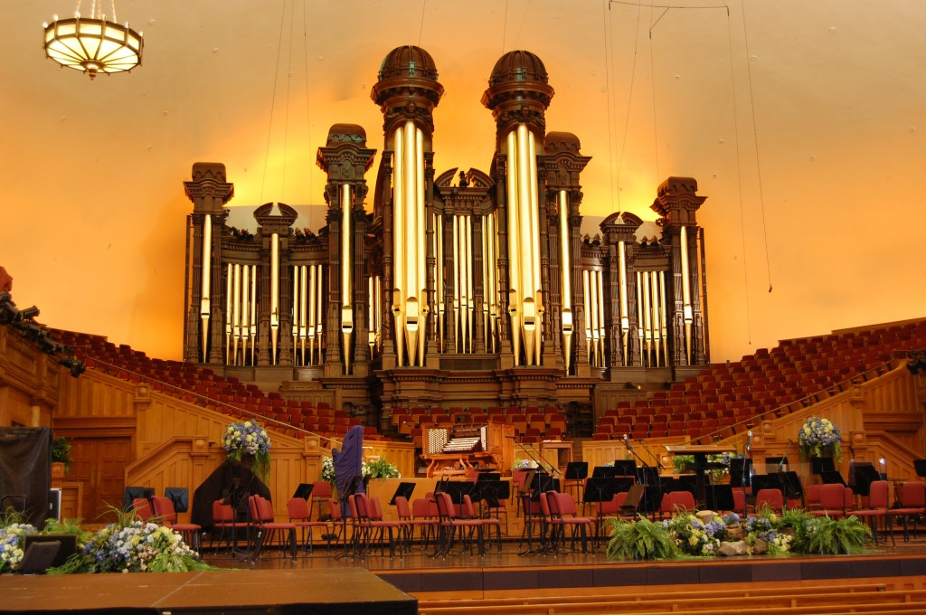 Famous Tabernacle in Temple Square